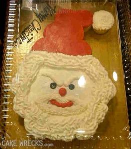 Snowman Santa isn't in a good mood this year as far as I can tell.
