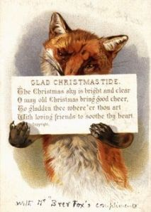 Saying is pretty good but it's held by someone who could be from Fantastic Mr. Fox. Still, something doesn't seem right having a fox hold up a sign.