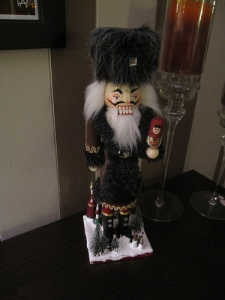 Or Vlad the Impaler, I don't know which. Still, is this supposed to be Russian Santa because I don't think he's very jolly.