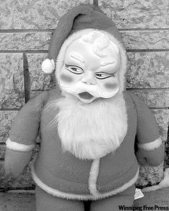 Why is it about certain Santa decorations that makes them so terrifying?