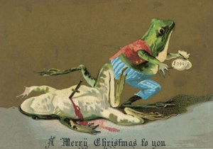 Just when does amphibious armed robbery and murder have to do with Christmas? This is sick. Guess the dead frog will end up in someone's biology class.