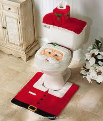Now you can have your commode in the spirit of the season while your guests are taking a crap.