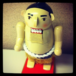 This is actually pretty tacky, but might be offensive to the Japanese who are into sumo wrestling.