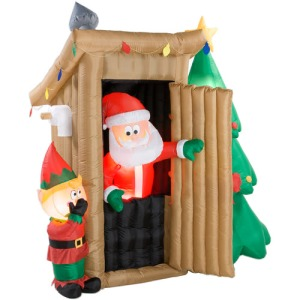 Of course, you don't want to go in there after Santa has done his duty.