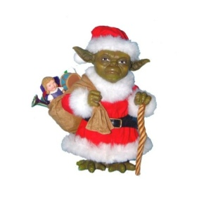 """Been good this year, you have?"" said Yoda Claus. ""So what for Christmas this year you want?"""