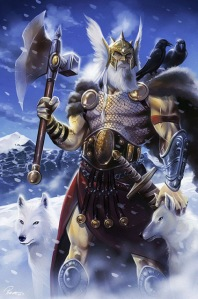 Allfather of the Norse gods who must do everything he can to avoid the inevitable Ragnarok apocalypse which will claim most of the pantheon. When it comes to Ragnarok to him, the ends justify the means no matter how morally ambiguous his actions are. Can also be a philandering jerk, too.