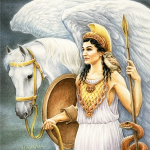 As far as Greek goddesses go, she's probably the closest thing to being a role model for young girls, by today's standards. She's smart, fierce, and is fairly decent to those who follow the rules though she's not perfect. She's also known to assist heroes and kick other gods' asses. Get on her bad side and she'll give you no mercy.