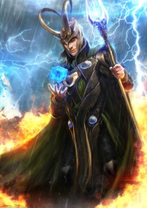 God of mischief is the closest definition. His enigmatic nature and alignment are unknown. Yet, treat him and his kids like crap long enough and he'll become the instigator of Ragnarok as soon as he gets out of prison.