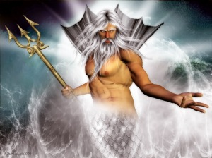 The old man of the sea who has a nasty temper and could cause all kinds of natural disasters when in a bad mood. On a positive note, he has a cool trident.