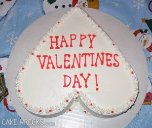 This is actually pretty clever but I don't think recipients would take an upside down heart cake as a compliment.