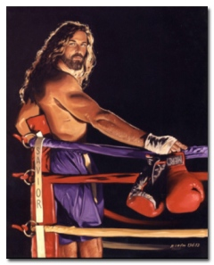 Give em' one for the Lord! Seriously, why put Jesus in a boxing ring? Still, I can understand why Islam forbids pictures of Muhammad. And there are plenty of tacky Jesus pictures I'm sure.