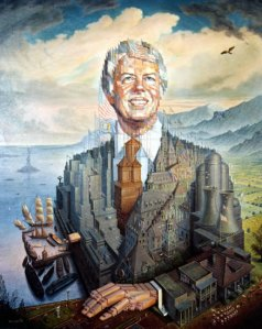 Look, Georgia, as lame as Carter may be as a president, he's still less of an embarrassment than Pierce or Buchanan. I mean the guy travels to Third World countries to dig latrines for villages. Also, I don't know what to make of this artwork.