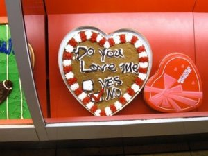 Then why a heart shaped cookie cake saying so then?