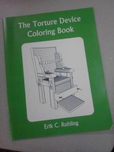 Hey, at least it doesn't have any sex organs you can color. Still, this is disturbing. Torture devices, seriously?