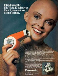 At least we know where Sinead O'Connor got her start. Of course, why would she want a hair dryer, I don't have the slightest idea.
