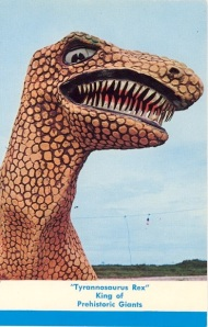 This is perhaps the lamest bloodthirsty T-Rex I've ever seen.