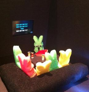 Still, I don't know if the bunny is completely sober at the karaoke bar.