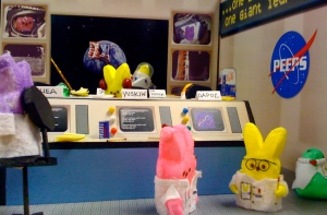 "As the late Neil Peepstrong said, ""That's one small step for a peep, one giant leap in peepkind."""