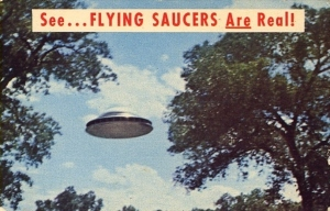 This probably explains why the show Ancient Aliens is now in existence. This one has to be a postcard from Roswell also in New Mexico.