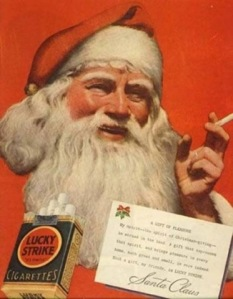 Seriously, I think doing tobacco endorsement should automatically put someone on the naughty list. And I don't think Santa should be exempt from that.