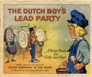 Of course, lead paint is bound to lower intelligence, stunt growth, delays development, cause kidney damage, cause reproductive problems, and may even cause cancer. Yeah, and you wonder why we don't use lead paint anymore. Also, it's kind of disturbing that these lead party guests consists of toy soldiers and plates.