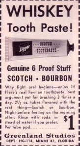 A 6 proof alcoholic tooth paste. I guess there's no artificial flavors is there? Also, why?
