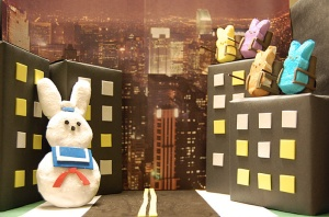 Of course, a peep diorama of Ghostbusters has to include the Stay Puft Marshmallow Guy.