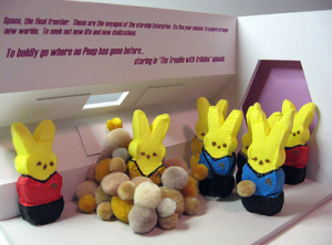 Space, the final frontier. These are the voyages of the Star Peep Enterprise. It's mission: to seek out new worlds. To seek out new life and new civilizations. To boldly go where no peep has gone before.