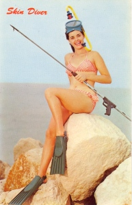 This served as the inspiration for the 1965 Dolphin Slayer Barbie which was quickly pulled off the market thanks to marine life advocacy groups. Apparently they thought such doll taught little girls the fun of killing giant marine mammals, most of which are now on the endangered species list.