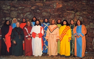 For some reason, whenever I see this, I can't think of anything else but Life of Brian. I mean the hair an beards are obviously fake and I'm sure one of Jesus' disciples is wearing a robe made out of a shower curtain. Oh, and some of these guys are wearing light haired wigs.