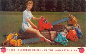 Besides, what woman wouldn't want a brightly colored chain saw that looks like it comes from a Martha Stewart line at Sears Kmart or Walmart?