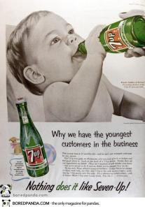 Yes, start your baby on a drink full of empty calories that will lead to early tooth decay, obesity, Type II diabetes, hyperactivity, anxiety, sleep deprivation, bone loss, heart disease, and so much more. Yeah, giving your baby pop is a good idea. Soft drinks are probably among the unhealthiest beverages on the market.