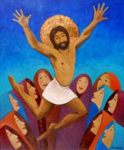 I suppose this is for a children's Bible but even in kids' Bibles, this isn't depicted as a very happy occasion. I mean Jesus is supposed to be suffering in deathly agony carrying a huge cross. This doesn't cut it.