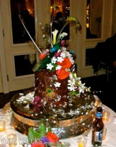 Seems like more money was spent on the cake decorations than the actual cake. Still, this looks so freaky.