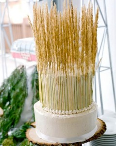 Of course, the wheat on this cake is so tall that I can't see the rest of it. Also, kind of resembles a do-it-yourself fertility goddess headdress or something.