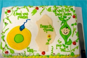 Look, even with the plant references, this cake still reminds me of health class in high school. Seriously, we get it now and no, this narrative doesn't make this cake any more adorable.