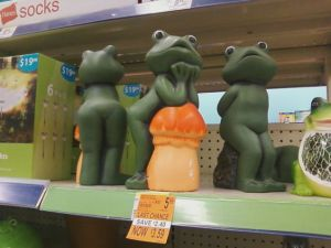 Of course, the only thing saving these animals from being inappropriate is the fact that frogs don't have mammary glands. Yet, you can tell that whoever designed these figures probably kept a secret Playboy stash during his high school years.