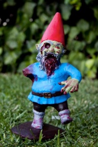 Of course, with the popularity of The Walking Dead, we have to have zombie versions of everything. Of course, this gnome won't be a danger to your brains due to its size but to other gnomes, well, God help them.