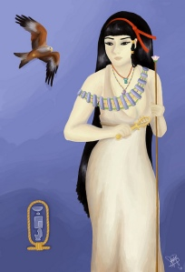 As the more benevolent and more human looking gods, Nephthys is an embodiment of the death experience, divine assistance, and protective guardianship. She helped Isis put Osiris together as well as raise Horus. Yet, in the more popular legends, she's said to conceive Anubis with Osiris but dressing up as Isis.