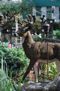 Now I have neighbors who have free standing deer like this but they aren't really used for decoration. In fact, they're used for target practice for hunting season. Also, if there are deer around during mating season, there's a chance they may mistake this ornament for the real thing.