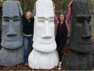 Of course, this may seem like a fun decoration at first. But take note that erecting the original Easter Island Statues would soon lead to all the island's trees being cut down and mass starvation and decline of a Polynesian people. Kind of depressing isn't it?