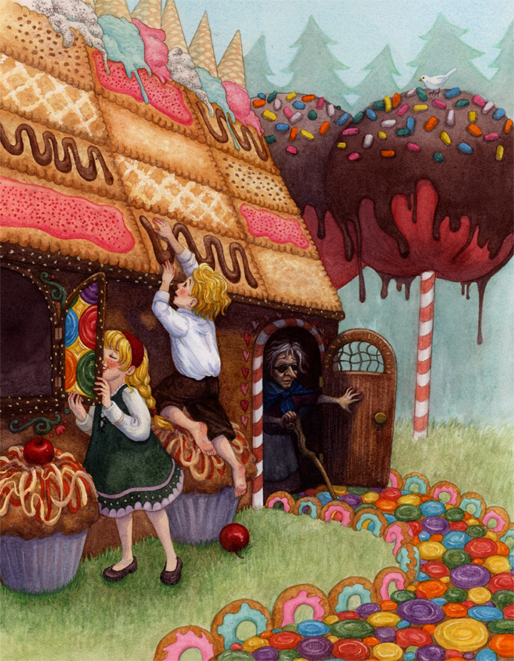 Original fairy tales part 1 the lone girl in a crowd - Hansel home ...