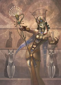 Bastet is the one and only cat goddess to the greatest cat loving civilization in history. Sure she may be a benevolent deity but she can also be quite fierce, especially since she originally appeared in Lower Egypt as an intimidating lioness goddess.