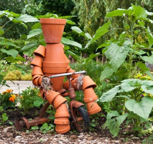 Seriously, this is kind of terrifying for gardeners if you know what I mean. I mean there's no way a flower pot person is harmless in some capacity.
