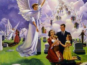 Also, why the 1950s fashions? I mean the Rapture didn't happen then. And if it were to occur sometime in the future, people would certainly not be dressed like they're from the 1950s.