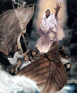 Think of this painting as a Christian themed version of Lost since everyone on that boat seems to be racially diverse and wearing modern day clothes. Also, why is there a wooden sailboat here? We don't use those kinds of boats anymore.