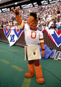 Of course, I couldn't do a post on bad Big Four mascots without including one from the Washington Redskins. I mean this guy is a walking offensive caricature to Native Americans.  Seriously, Redskins, change your fucking name for God's sake? You're projecting a highly negative stereotype many Indians find profoundly offensive. Seriously, this mascot reveals the deep depths of your highly racist soul.