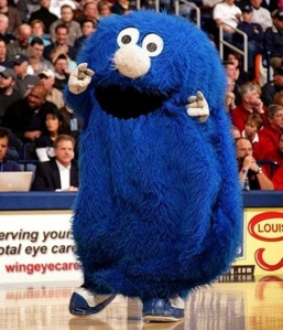 Since what does a blue blob monster have to do with musketeers outside of Sesame Street? Seriously Xavier? If the musketeers ever faced a monster that looked even remotely like an earlier design of Cookie Monster, I'm sure Alexandre Dumas would've mentioned it in his books. Wouldn't he?