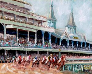 Each year on the first Saturday in May since 1872, Kentucky plays host to the renown Kentucky Derby at Churchill Downs which is the first of the Triple Crown Races. Unlike the Indianapolis 500, this is race is just one lap along a 1 1/4 mile long tract though the broadcast can go on for hours. Still, whoever wins this race will go on to become the horse we all root for to win the Triple Crown (not won since the 1970s) come the Preakness and the Belmont Stakes.