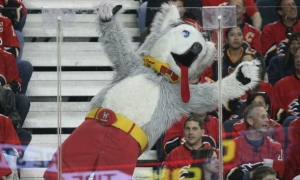 I see no problem with a dog mascot. Yet, a dog with his tongue out all the time and there is no excuse that he's the mascot for the Calgary Flames. Well, other than being a possible creation of a 6-year old boy who was told to think outside the box. But you'd think a team like the Calgary Flames would have a better mascot perhaps one relating to fire. Torch from the Fantastic Four would've been a better choice or a fire breathing dragon.